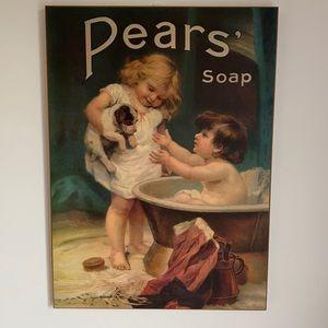 Pears soap decorative art frameless angels chérubin bathroom decor , living room